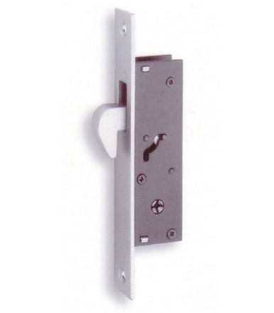 Serratura con gancio basculante e cilindro per serramenti in alluminio 304 K