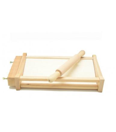 Kit chitarra tagliapasta + mattarello liscio in legno di faggio artigianato abruzzese