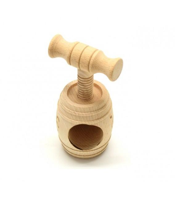 Barilotto schiaccianoci in legno di faggio artigianato abruzzese