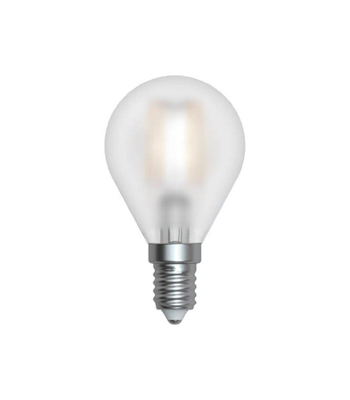lampadina sfera satinata led 4w e14 3000k serie filamento led skylighting mancini mancini shop. Black Bedroom Furniture Sets. Home Design Ideas
