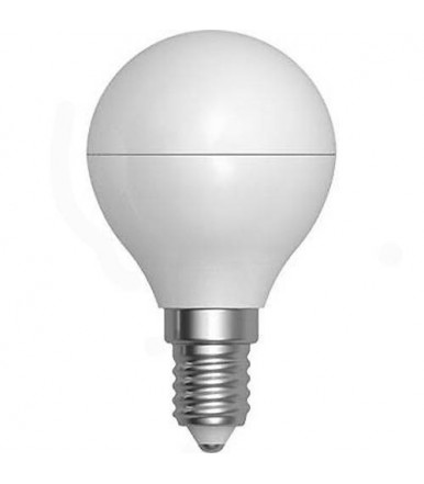 Lampadina sfera opalina LED - 5W E14 4200K Serie Smooth Led SkyLighting