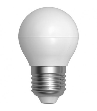 Lampadina sfera opalina LED - 7W E27 4200K Serie Smooth Led SkyLighting