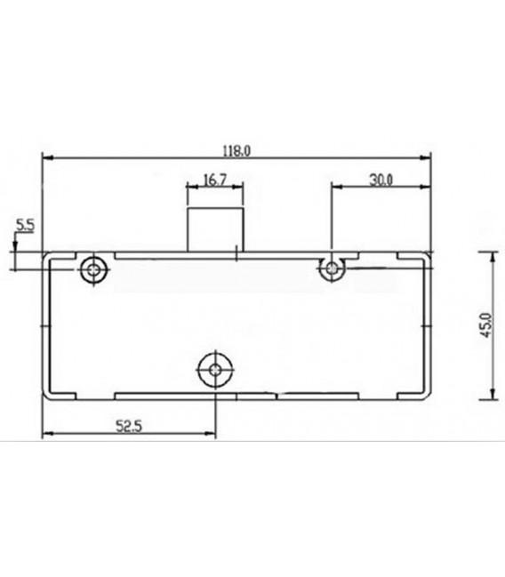 Serratura elettronica digitale per cassetti ed armadietti con combinazione