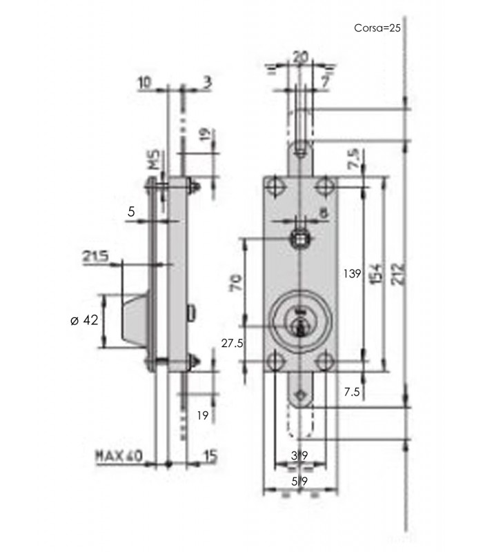 Schema Elettrico Per Serrande : Serratura corazzata a doppia espansione per porte