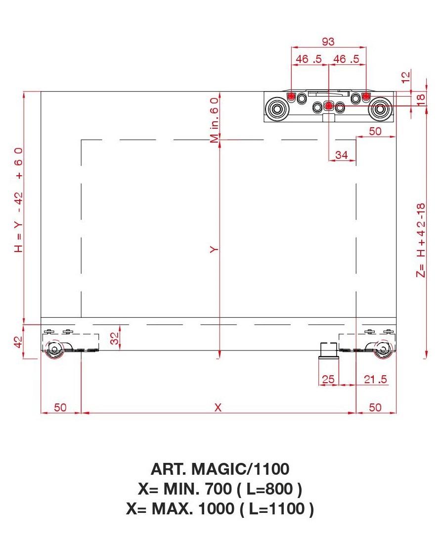 Porta Scorrevole Vetro 120 Cm terno scorrevoli magic2 vetro 1100 mm patented concealed
